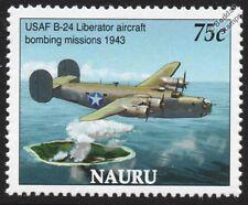 WWII USAF Consolidated B-24 LIBERATOR (Bombing of Nauru) Aircraft Stamp