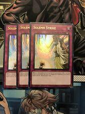 x3 YuGiOh! Solemn Strike DUDE-EN055 Ultra Rare 1st Edition NM