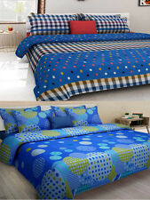 Homefab India Combo of 2 Cotton Double Bed Sheet (Combo799)