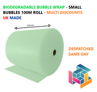 Biodegradable Green Bubble Wrap 300mm x 100m - Eco Friendly - 100% Recyclable