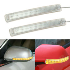 2 Pcs Amber 9LED 12V Lights Car Rear View Mirror Side Turn Signal Indicator Lamp