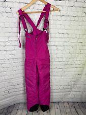 Columbia Girls Snowslope II Snow Bib Pants Pink Size YOUTH XL