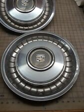 1971 - 1990 Cadillac Deville Fleetwood Brougham 15 Hubcaps Factory Set of 3