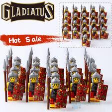 21PCS Rome Fighters Gladiatus Medieval Pikeman Warrior Building Blocks DIY Toys