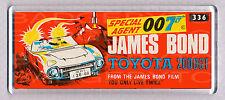 JAMES BOND TOYOTA 2000GT toy box art WIDE FRIDGE MAGNET - CLASSIC TOY MEMORIES!