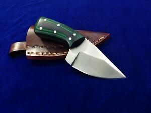 """5.3"""" SEO Handmade Full Tang 1095 High Carbon Steel EDC Combat Skinner Neck Knife"""