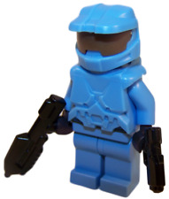 **NEW** LEGO Custom - LIGHT BLUE HALO SPARTAN - Master Chief Xbox Minifigure