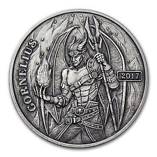 5 oz Silver Antique Round - Angels & Demons Series (Cornelius) - SKU #149315