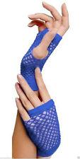 New Ladies Girls Sexy Short Fingerless Fishnet/Lace Gloves 80s--Fancy Dress