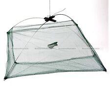 80cm x 80cm Foldable Fishing Crab Crayfish Lobster Bait Trap Net Prawn Shrimp