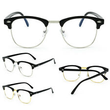 754c9943c0 Fashion Clear Lens Glasses Vintage Half-Rim Men Women Oval Eyeglass Frames  AU