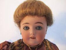 "Super Rare Antique 24"" Bisque Doll Germany ""K."" Human Hair Wig~Teeth All Origina"