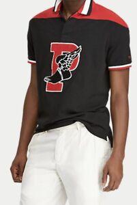 Ralph Lauren Classic Fit P-wing Stadium Collection Polo Mesh Black L RRP £125