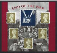 GREAT BRITAIN 2005 END OF WAR MINIATURE SHEET FINE USED