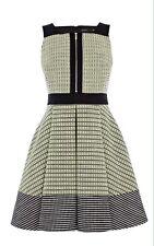 Karen Millen Neón Tweed Vestido Reino Unido 16