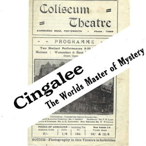 1942 Cingalee magician theatre programme Coliseum Portsmouth variety bill