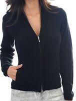 Balldiri 100% Cashmere Kaschmir Damen Strickjacke 6-fädig schwarz XS