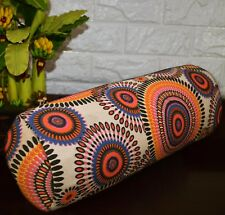 af258g Yellow Pink Nude Dot Cotton Canvas Yoga Bolster Cushion Cover Custom Size