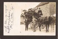 Sheffield. Day Trip. Charbanc Outing. Horse Drawn Charabanc. Sheffield 1906. RP.