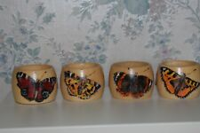 Wooden napkin rings Hand painted and Pyrography. MADE TO ORDER.All unique.