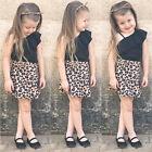 0-24M Newborn Infant Baby Girl Vest Tops Skirt Dress Outfit Set Kids Clothes