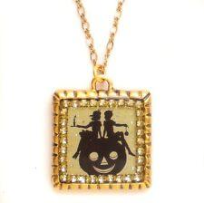 Maximal Art Halloween Necklace Jack-O-Lantern Pumpkin Gold John Wind Jewelry
