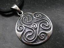 Sonnenrad 925'er Silber Ketten Anhänger Amulett Triskele    / KA 179