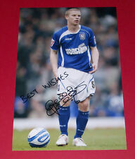 GRANT LEADBITTER IPSWICH TOWN HAND SIGNED 12X8 PHOTO