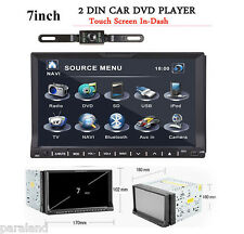 "GPS Navigation 7"" Double 2DIN Car Stereo DVD Player Bluetooth iPod MP3+Camera"