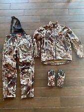 First Lite North Branch Set Jacket, Bibs, Gloves Fusion