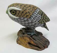 Vintage Carved Wood Owl - Wood Carving Bird