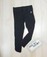 Victoria's Secret PINK Leggings Medium Black Leopard High Rise Curved Hem Pants