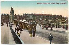 P.C Marine Terrace And Clock Tower Margate Kent  P U 1915 Good Condition