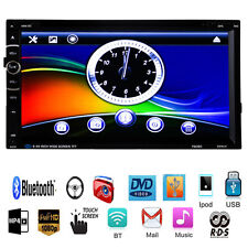 Bluetooth GPS 2DIN 7'' Car DVD CD MP3 Player Touch Screen In Dash Stereo Radio