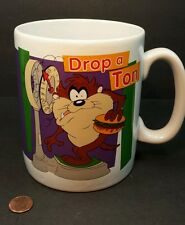 Large Coffee Cup Tazmanian Devil I Resolve to Diet Mug Warner Bros 1996