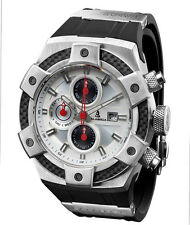 CALABRIA - ARMATO - White Chronograph Men Watch with Carbon Fiber Bezel