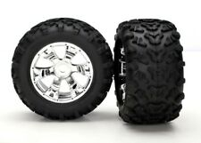 NEW Traxxas 17mm Geode Chrome Whls & Maxx Tires Summit T/E-Maxx FREE US SHIP