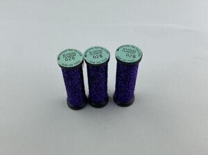 Lot Of 3 Kreinik 026 Amethyst Blending Filament Thread Floss Cross Stitch Sew