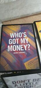 Framed Grant Cardone Motivational Posters (x4)