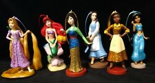 Disney Sparkling Princess Christmas Ornament set of 6 Deluxe Tiana Mulan Belle