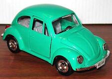 Vintage VW BEETLE Big Green Diecast Metal Car FRICTION TOY Rare! MINT Shackman