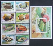 Zaire-Tropical Fishes.8 St.+ 1 S/Sh,MNH, ZA 014