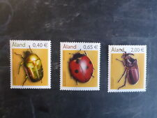 2006 ALAND, FINLAND INSECTS BEETLES SET 3 MINT STAMPS MNH