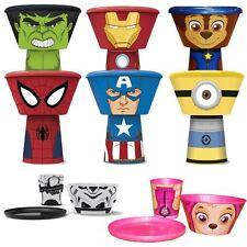 Boyz Toys Kids Childrens Stacking Meal Mug Bowl Plate Set Avengers Paw Patrol
