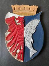 Kuestrin  Wappen Holzrelief