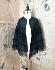 Antique Victorian mourning cape, shawl