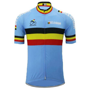 Belgium Cycling Jersey mens Cycling Short Sleeve Jersey