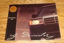 Original 1986 Mercedes-Benz 190E 2.3-16 Sedan Deluxe Sales Brochure 86