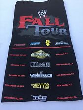 WWE Fall Tour Local Crew T-Shirt XL Survivor Series Hell in a Cell SMACKDOWN