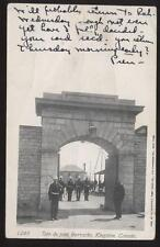Postcard KINGSTON CANADA Military Barracks View 1906?